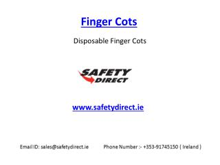 Branded Finger Cots in Ireland at SafetyDirect.ie