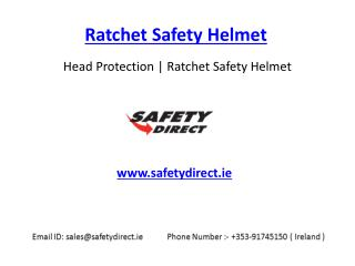 Ratchet Safety Helmet in Ireland at SafetyDirect.ie
