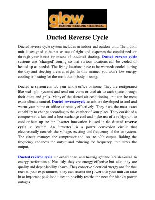 Ducted Reverse Cycle