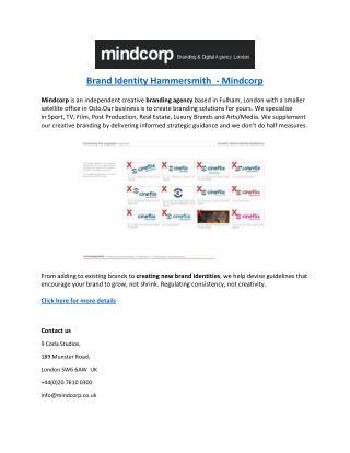 Brand Identity Hammersmith  - Mindcorp