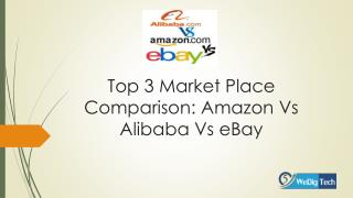 Top 3 market place comparison amazon vs alibaba vs ebay