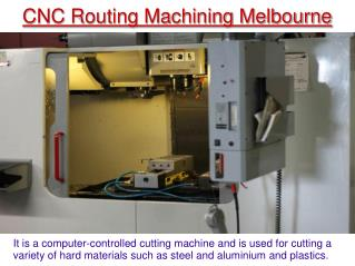 CNC Machining shop in Melbourne