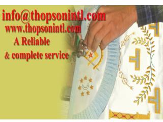Masonic French rite apron