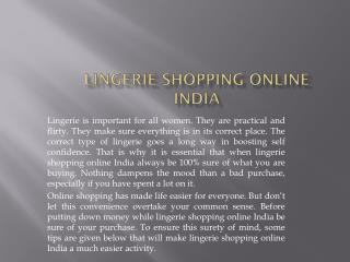 Lingerie Shopping Online India, Buy Lingerie Online India