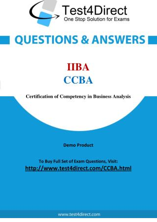 IIBA CCBA Exam Questions