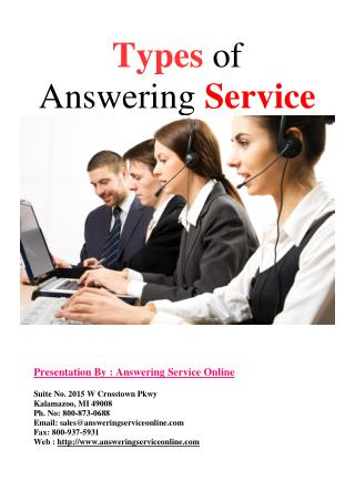Types of Answering Service