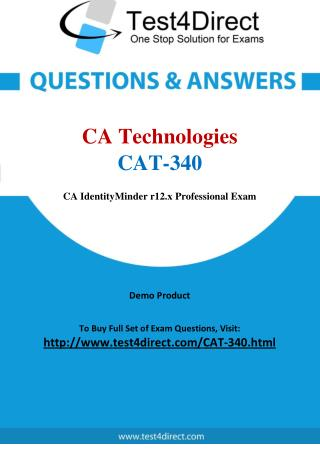 CA Technologies CAT-340 Exam Questions
