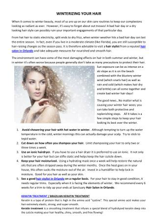 WINTERIZING YOUR HAIR