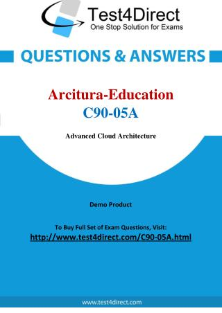 Arcitura Education C90-05A Certified Cloud Architect Real Exam Questions
