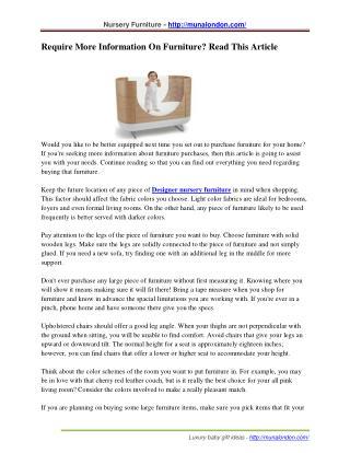 Premium Nursery furniture