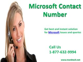 Call Microsoft Contact Number 1-877-632-9994 tollfree to contact Microsoft for support