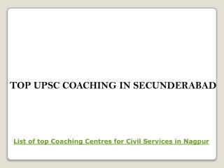 Top upsc coaching in secunderabad