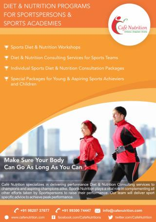 Sports Nutritionist in Mumbai