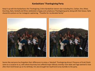 Kardashians' Thanksgiving Party