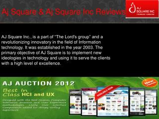 Aj Square / Aj Square Inc Reviews
