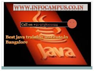java/j2ee classes in bangalore