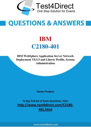 IBM C2180-401 Digital Experience Real Exam Questions