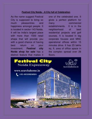 Festival City Noida - A City full of Celebration