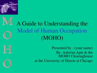 A Guide to Understanding the Model of Human Occupation MOHO