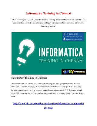 Informatica Training in Chennai