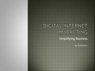 Importance of Digital internet marketing [SEO & SMO] by Technource