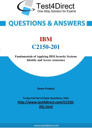 IBM C2150-201 Exam Questions