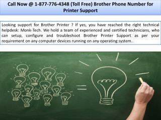 Brother Printer Support  ||| 1-877-776-4348 number toll free