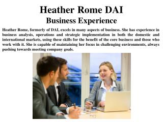 Heather Rome DAI Business Experience