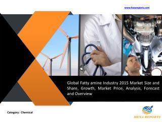 Fatty amine Market Analysis and Forecast 2015 - 2020