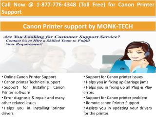 Canon Tech Support  | 1-877-776-4348 number toll free
