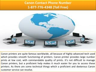 Canon Technical Support  |||| 1-877-776-4348 number toll free