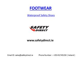 Waterproof Safety Shoes at safetydirect.ie