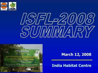 March 12, 2008   India Habitat Centre