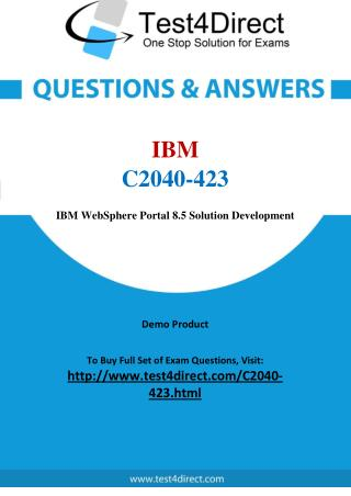 IBM C2040-423 Exam Questions
