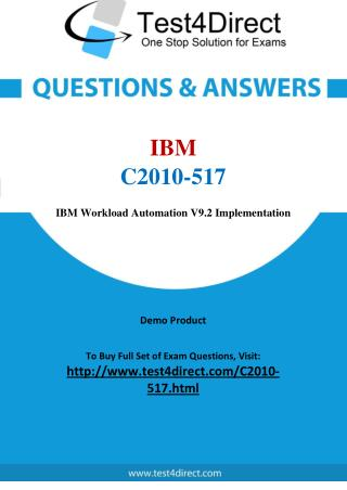 C2010-517 IBM Exam - Updated Questions