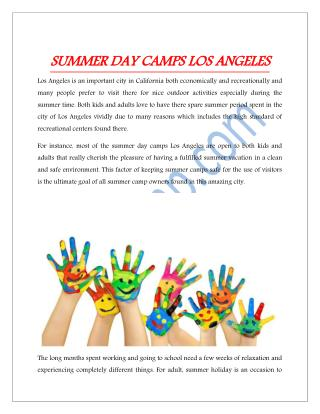 Summer Day Camp LosAngeles