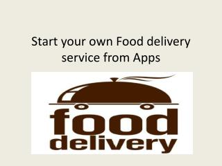 App Development for Food Delivery