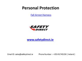 Carry a Fall Arrest Harness in Ireland at SafetyDirect.ie