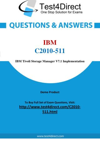 C2010-511 IBM Exam - Updated Questions