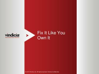 Fix It Like You Own It - Vindicia