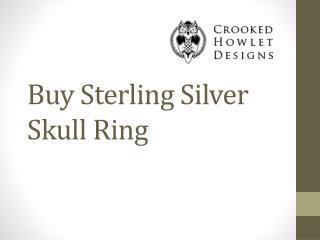 Buy Sterling Silver Skull Ring