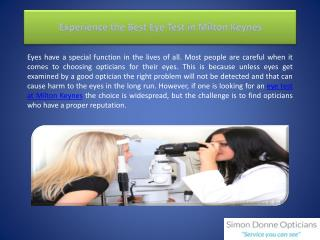 Experience the Best Eye Test in Milton Keynes