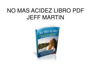 No Mas Acidez libro pdf Jeff Martin