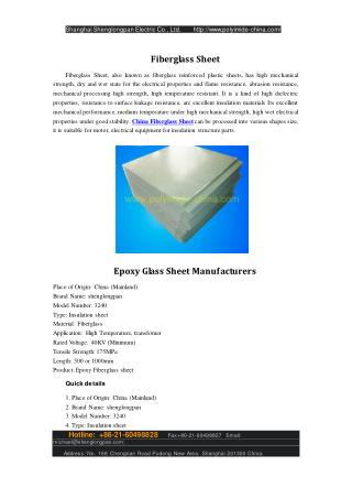 Epoxy Glass Sheet Manufacturers