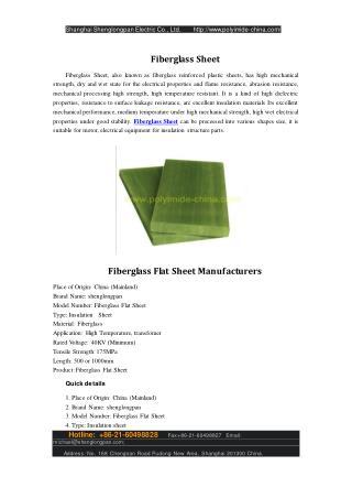 Fiberglass Flat Sheet Manufacturers
