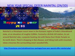 NEW YEAR SPECIAL OFFER NAINITAL (2N/3D)