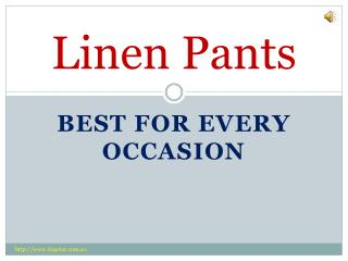 Stylish and Comfortable Linen Pants