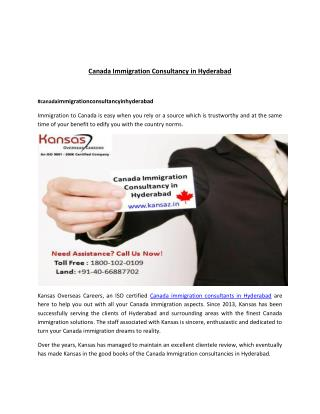Canada Immigration Consultancy in Hyderabad