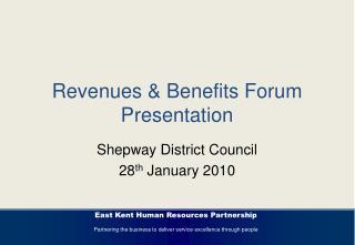 Revenues  Benefits Forum Presentation