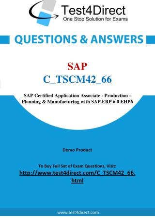 SAP C_TSCM42_66 SAP Certified Application Associate Exam